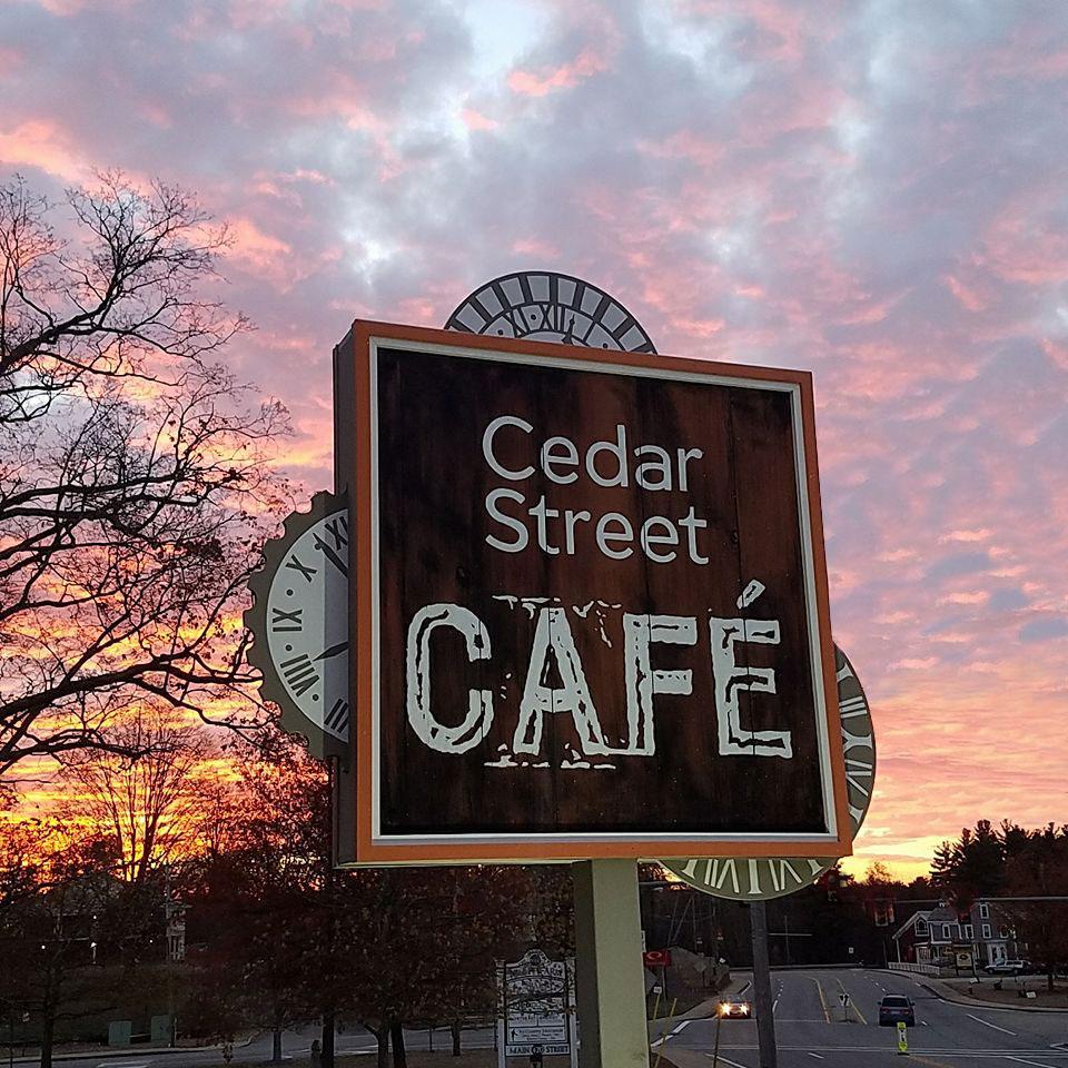 Cedar Street Cafe Menu Sturbridge